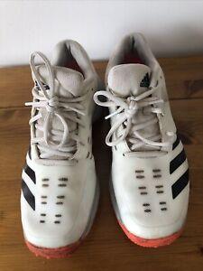 Adidas 22 Yards Spiked Cricket Shoes, White/orange Size 8uk