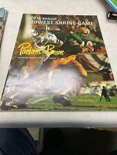 Green Bay Packers VS Chicago Bears NFL 1969 game program Excellent Shape