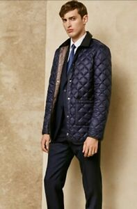 DUNHILL London Black Soft Quilted Lightweight Luxury Coat - M - BNWT