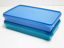 Tupperware Bake 2 Basics B2B Slice N Stor Rectangular Deli Keeper 1.4L Set of 2