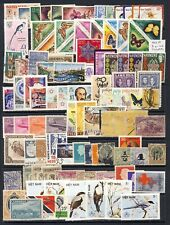 Worldwide stamp collection on one page with good topicals on one sheet