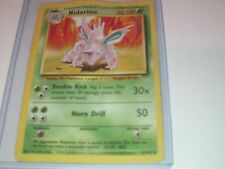 Pokemon Nidorino Base Card original 37/102 - Toploader protected