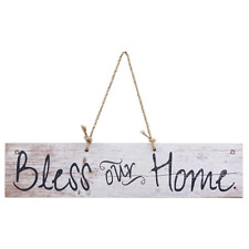 Rustic~BLESS OUR HOME~Vintage Shabby Chic Inspirational Home Decor sign