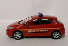 Norev 3 inches 1/60 .  Peugeot 308 phase 1 Pompiers   .   Neuf en boite.