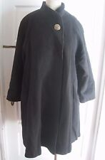 Vintage Spencer Douglas Wool Mod Swing Stroller Stand Up Collar Coat Womens 8