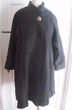 Vintage Spencer Douglas Wool Mod Swing Stroller Stand Up Collar Coat Womens 8