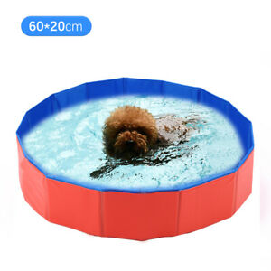 Foldable Pet Bath Pool Collapsible Dog Pool Pet Bathing Tub Pool for Dogs C7U4