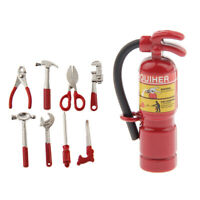 1:12 Dollhouse Miniature Home Garden Accs Fire Extinguisher & Hand Tools Set
