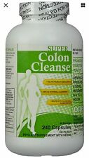 Super Colon Cleanse, 500mg, 240 capsules, New, Fast Free 1st class  Shipping