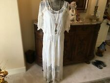 """Johnny Was """"Love"""" beautiful embroidered cream lace dress XL NWT"""