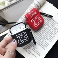 Air Jordan 23 Earphone For Apple AirPods Silicone Case Protective Cover Keychain