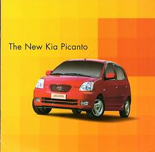 Kia Picanto 2004 UK Market Launch 8pp Sales Brochure 1.0 1.1 GS LX SE