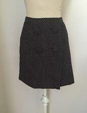 BANANA REPUBLIC Womens Black Tan Stitch Mini Skirt Size 8