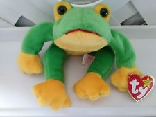 TY Beanie Baby ~ SMOOCHY Frog (Felt Mouth) ~ NWT Retired with PE Pellets
