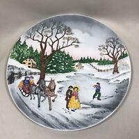 Vintage Decorative Platter Winter Holiday Christmas Decor 1950s West Germany HTF