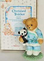 Cherished Teddies OUR FRIENDSHIP SPANS MANY MILES CHINA  LIAN #202347 w/COA MINT