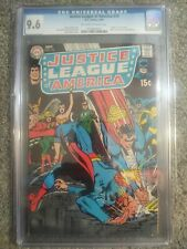 JUSTICE LEAGUE OF AMERICA # 74 CGC 9.6 NM+ ONE OF  10 COPIES. ONE GRADED HIGHER.
