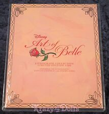 Disney Designer Art of Belle Doll Collection Lithographs Limited Edition New!