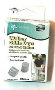 Medline Walker Glide Caps for 1 in Walkers - Gray