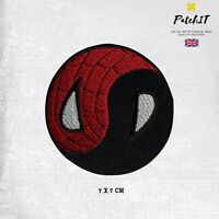 Yin Yang Spiderman Round Logo Patch Iron On Sew On Badge Embroidered Patch