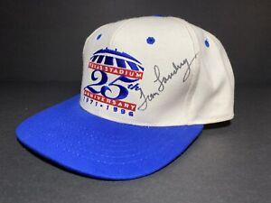 Vintage Tom Landry Autographd Dallas Cowboys Texas Stadium Anniversary Hat Cap