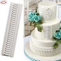Lace Border Bow Silicone Fondant Mold Cake Decorating Chocolate Baking Mold Tool