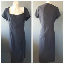 WITCHERY Womens Black Square Neck Short Sleeve Dress Size 14