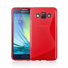 S-LINE WAVE TRANSLUCENT CLEAR TPU GEL BACK SOFT CASE COVER FOR SAMSUNG GALAXY A3