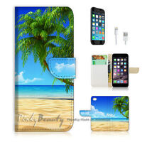 ( For iPhone 6 / 6S ) Wallet Case Cover P0282 Beach