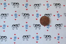 MINIATURE DOLLHOUSE wallpaper j hermes vintage cow braxton's buddies 1:12