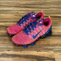 Nike Vapormax Flyknit 3 GS Noble Red Blue BQ5238-602 Size 5Y Women's 6.5