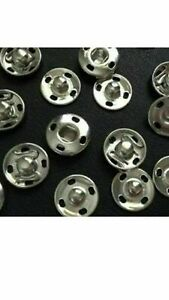 5 POPPERS SNAP BUTTONS FASTENERS PRESS STUD SEWING RIVET CRAFT FABRIC CLOTHING
