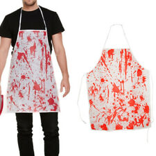 Halloween Costume Bloody Surgeon Apron Blood Splatter Horror Nurse Fancy Dress