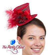 DELUXE TARTAN CHRISTMAS MINI TOP HAT HEADBAND Christmas Hogmanay Party Hat BH675