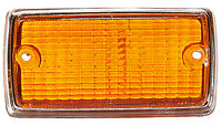 NEW For Ford Escort Mk1 Front Indicator Lamp Lens Amber / Orange + Chrome Surrou