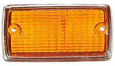 NEW For Ford Escort Mk1 Front Indicator Lamp Lens Amber / Orange + Chrome Surrou