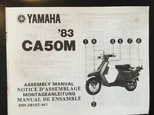 Yamaha CA50M Assembly Manual '83 As Supplied To Dealers Ref 20H-28107-W1
