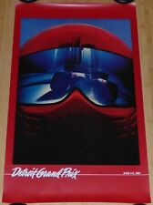 1982 DETROIT GRAND PRIX VINTAGE ORIGINAL FORMULA 1 RACING POSTER