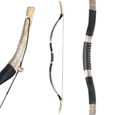 """50-70lbs 55"""" Archery Recurve Bow Snakeskin Traditional Hunting Longbow Target"""
