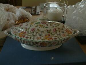 Minton Haddon Hall Large Lidded Vegetable Dish-Unused