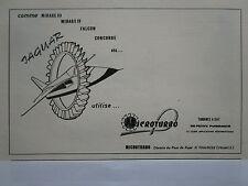 9/1972 PUB MICROTURBO TOULOUSE TURBINE A GAZ MIRAGE FALCON CONCORDE JAGUAR AD