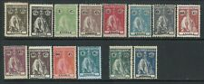 Angola 1914 - Ceres x 14 stamps used and mint