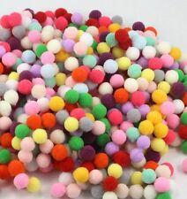 300 pcs Pom Poms Soft Fluffy Balls Acrylic Felt Card Embellishments Kids Pompoms