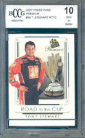 2007 press pass premium #54 TONY STEWART RTTC racing BGS BCCG 10