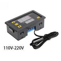 12V/24V/110V/220V Digital Temperature Controller Thermostat With Cable Kit W3230