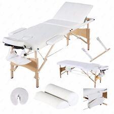 "84""L Portable Massage Table 3 Fold Facial Spa Bed Sheet+2 Bolster+Cradle+Hanger"