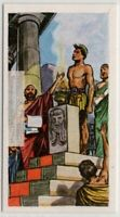 Winning Athletes Honored Ancient Greek Olympic Games Vintage Ad Trade Card