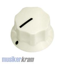 5x Potiknopf Classic gerillt 25mm mandel / almond, mit Schraube ( Knopf knob )