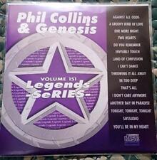 LEGENDS KARAOKE CDG PHIL COLLINS & GENESIS #151 POP OLDIES 16 SONGS CD+G