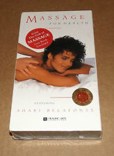 Massage Practice for Health vhs featuring Shari Belafonte NEW & FACTORY SEALED